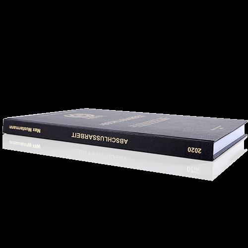 Abschlussarbeit binden lassen im Standard Hardcover Buchrücken