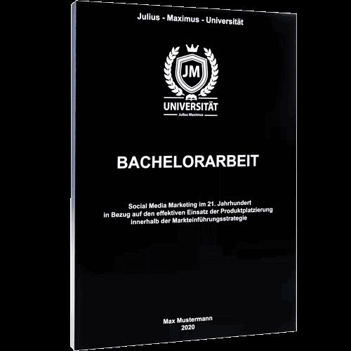Bachelorarbeit binden mit Magazinbindung schwarz