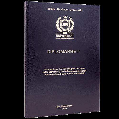 Diplomarbeit binden lassen im Standard Hardcover