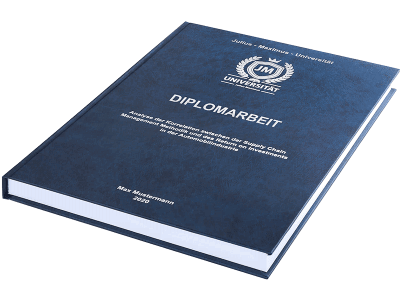 Diplomarbeit drucken und binden lassen im Premium Hardcover dunkelblau