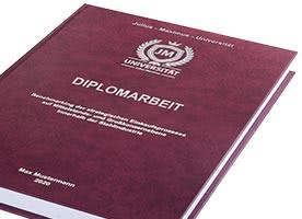 Diplomarbeit mit Hardcover-Bindung rot