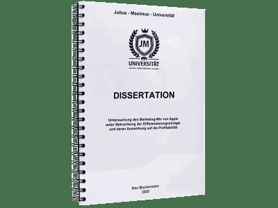 Dissertation binden lassen mit der Spiralbindung Metall