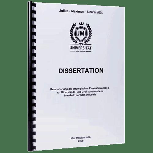 Dissertation binden lassen mit der Spiralbindung Plastik