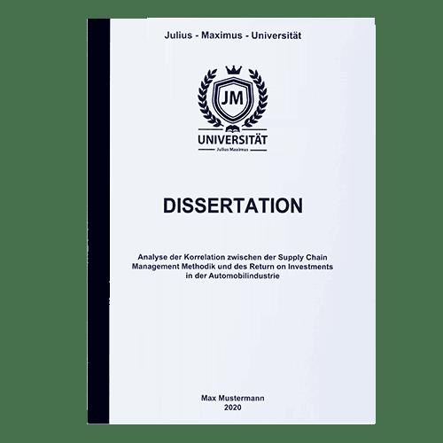 Dissertation drucken lassen mit der Klebebindung frontal schwarz