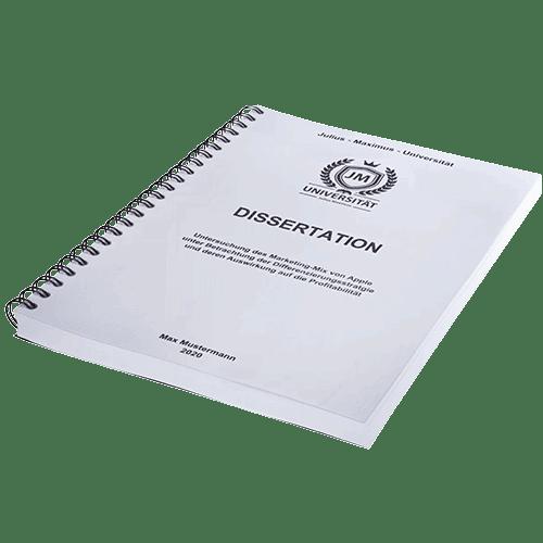 Dissertation drucken und binden mit der Spiralbindung liegend