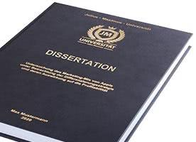 Dissertation mit Hardcover-Bindung schwarz