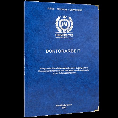 Doktorarbeit binden lassen im Standard Hardcover