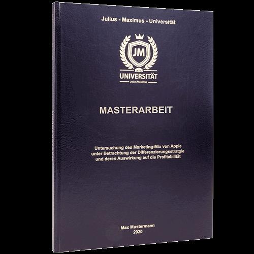 Masterarbeit binden lassen im Standard Hardcover