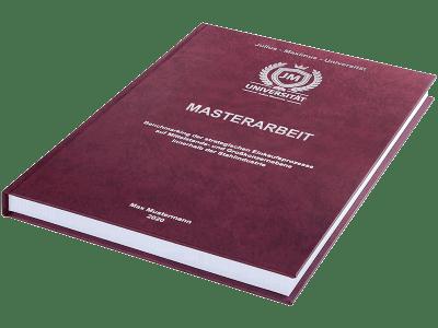 Masterarbeit drucken und binden lassen im Premium Hardcover bordeauxrot