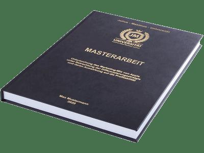 Masterarbeit drucken und binden lassen im Premium Hardcover schwarz