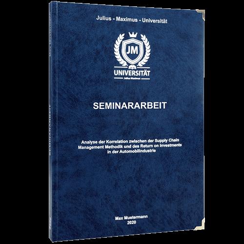 Seminararbeit drucken und binden mit dem Premium Hardcover dunkelblau