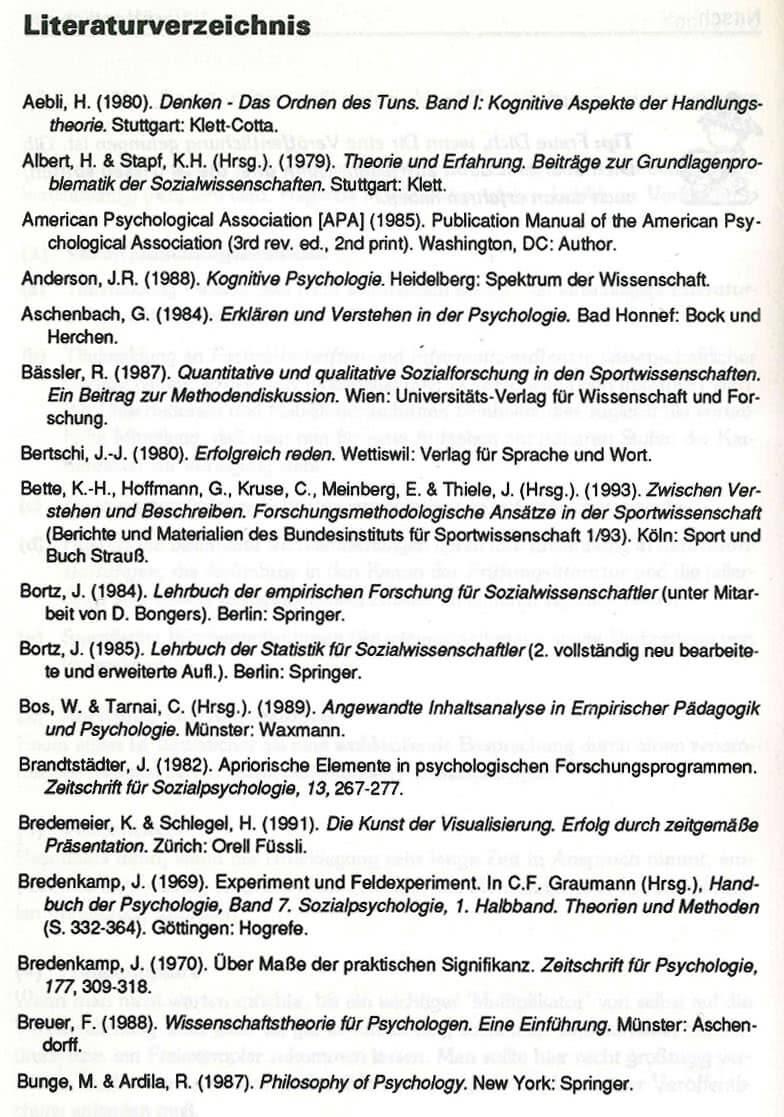 Literaturverzeichnis Beispiel