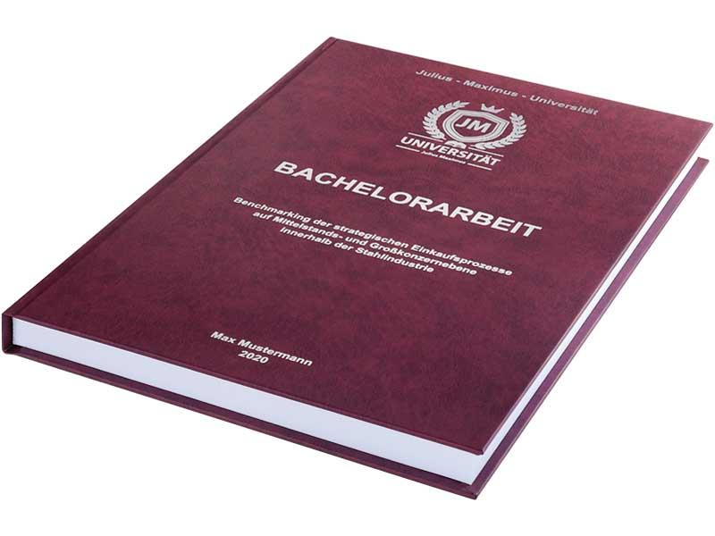 Hardcover-Prägung für Bachelorarbeit und Masterarbeit