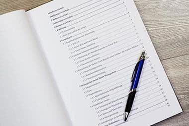 Das Inhaltsverzeichnis in der Diplomarbeit