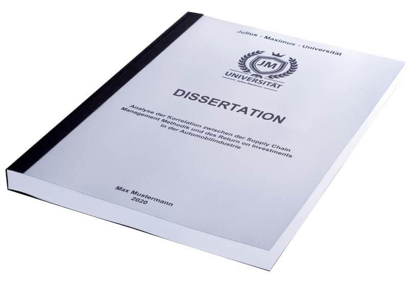 Dissertation drucken und finden
