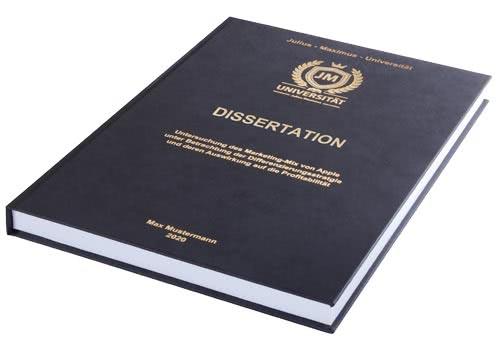 Kosten und Preise Dissertation drucken und binden im Hardcover