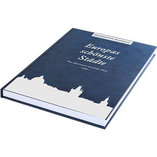 Buch drucken mit Premium Hardcover blau