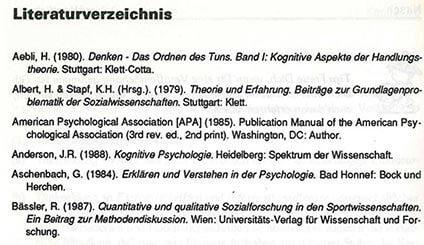 Literaturverzeichnis - das Regelwerk für deine Facharbeit