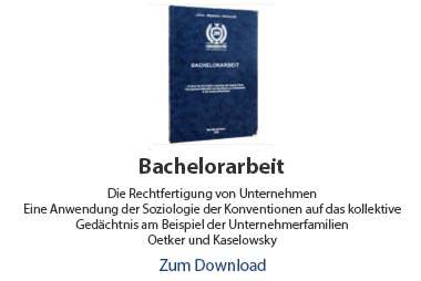 Bachelorarbeit Beispiel Soziologie