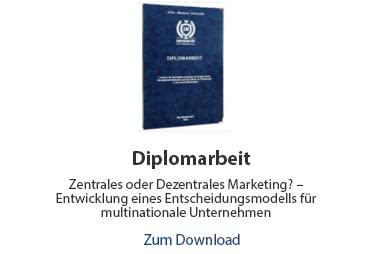 Diplomarbeit Beispiel Wirtschaftswissenschaften