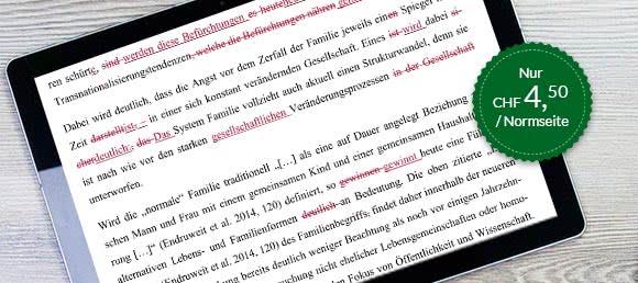 Korrekturlesen Deutsch-Muttersprachler