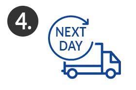 Schritt 4 Next Day Express-Lieferung nach dem Drucken & Binden der Bachelorarbeit