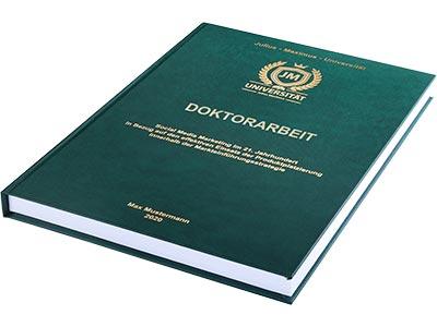 Doktorarbeit binden Hardcover grün