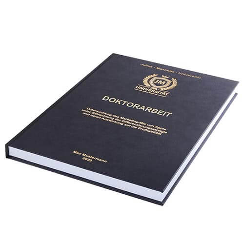 Doktorarbeit binden Hardcover liegend