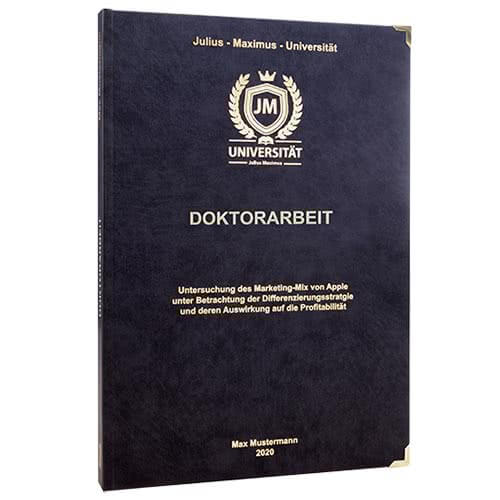 Doktorarbeit binden Hardcover