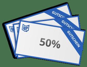 50 % Rabatt sichern