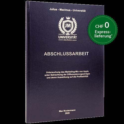 Abschlussarbeit binden standard Hardcover-Bindung