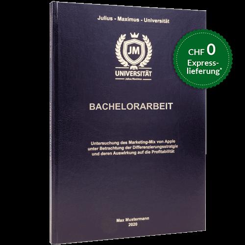 Bachelorarbeit binden standard Hardcover