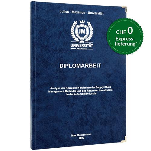 Diplomarbeit binden Hardcover-Bindung