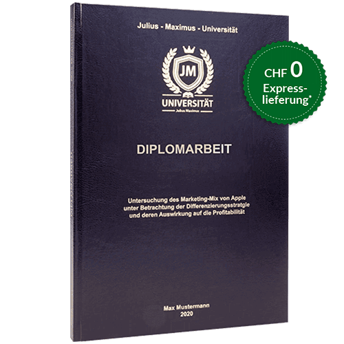Diplomarbeit drucken standard Hardcover