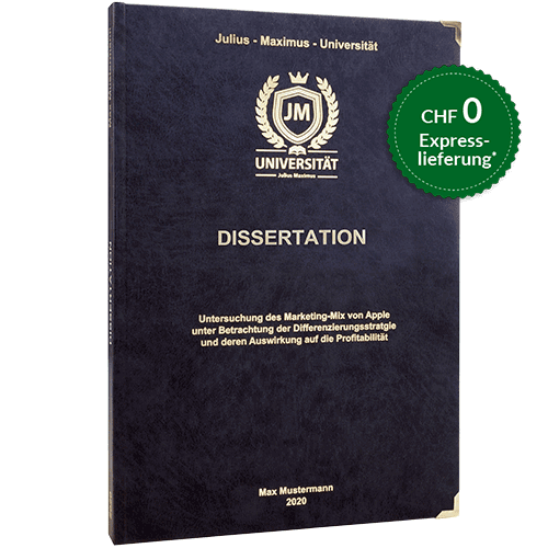 Dissertation drucken binden Hardcover