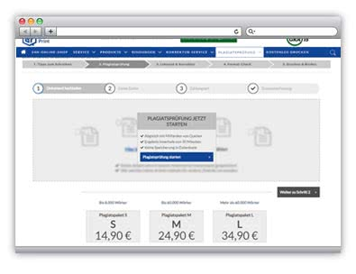 Online-Service-Partner Plagiatssoftware
