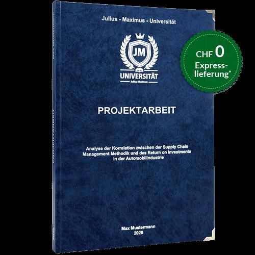 Projektarbeit binden premium Hardcover