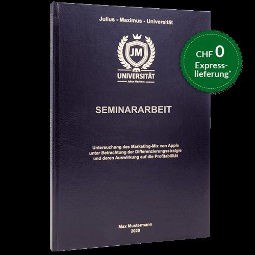 Seminararbeit drucken binden standard Hardcover