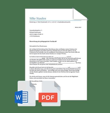 bewerbungsschreiben pdf download