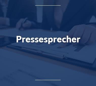 Pressesprecher Jobs