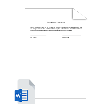 Eidesstattliche Erklärung Vorlage 1
