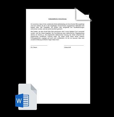 Eidesstattliche Versicherung Vorlage 2