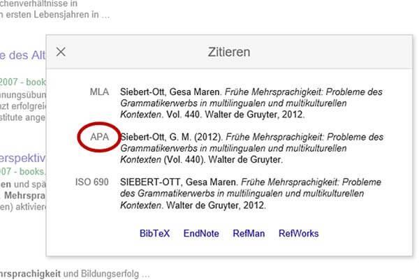 Google Scholar APA
