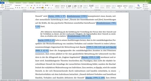 Literaturverzeichnis Word Kurzverweise