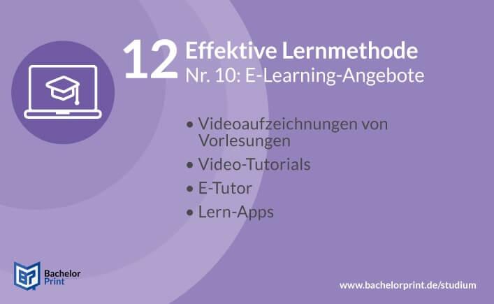 Effektive Lernmethode E-Learning