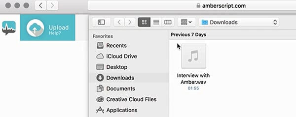 Transkriptionssoftware Datei hochladen