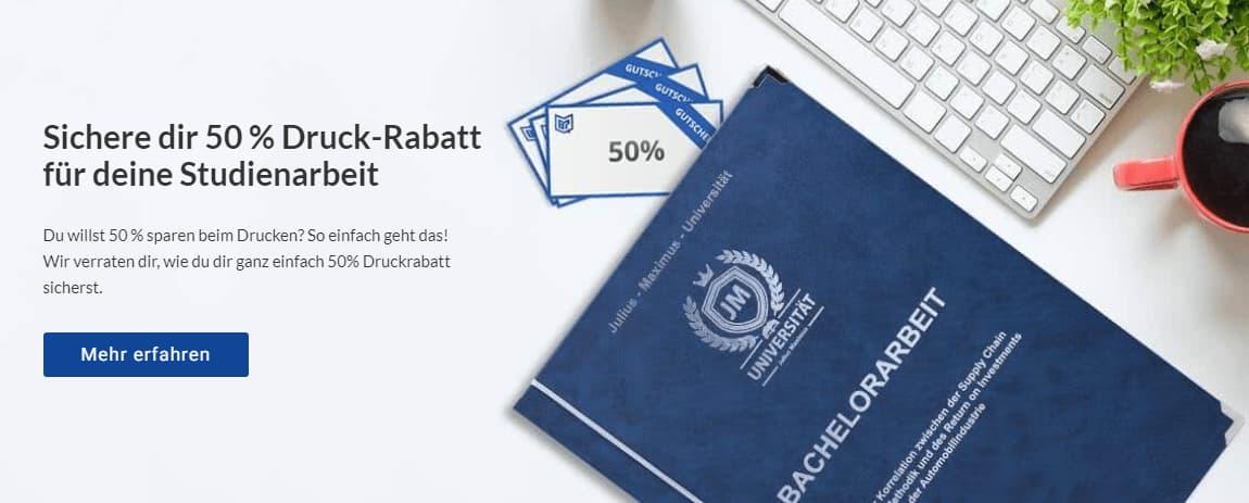 Diplomarbeit drucken binden online Rabatt