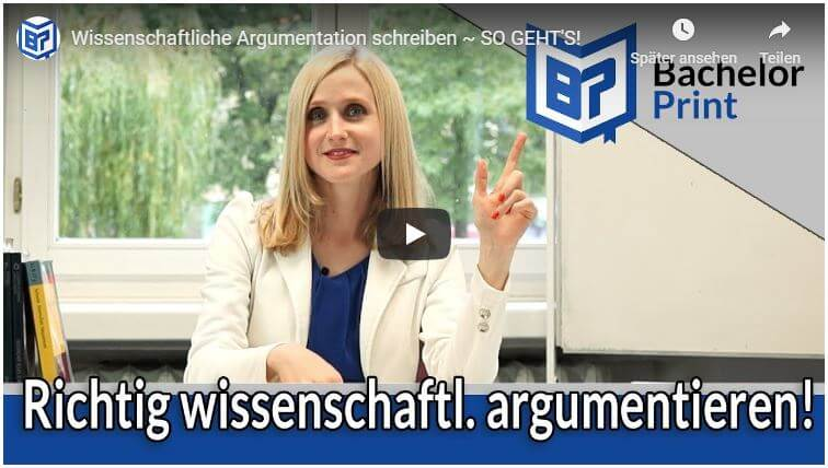 Argumentation schreiben Video Tutorial