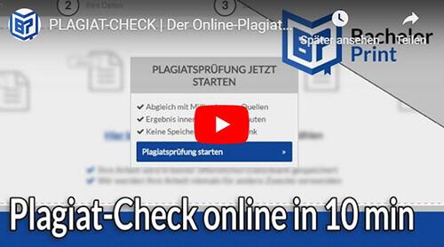 Plagiat Check Erklärung Überblick