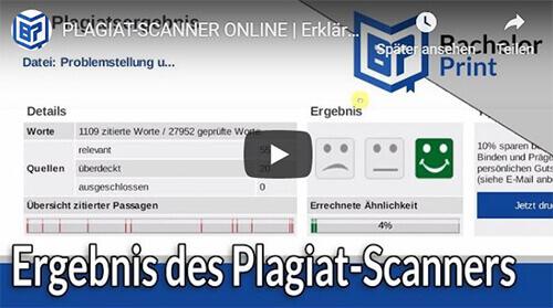 Plagiat Scanner Inhalt Überblick